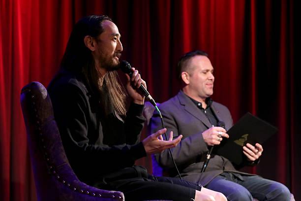Robin Nixon Grammys Steve Aoki Close Up Again