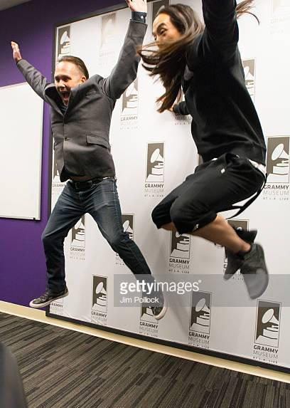 Robin Nixon Grammys Steve Aoki Jumping